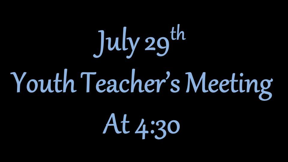 youth teacher meet